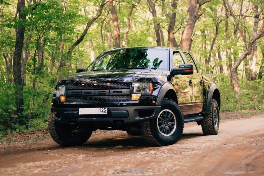 black ford pickup