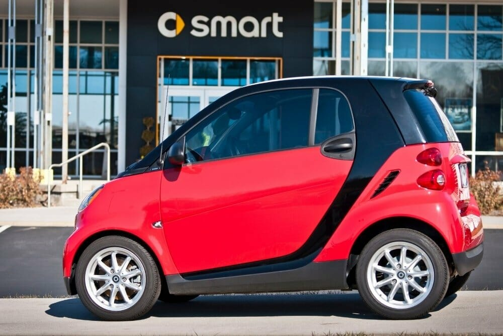 red smart car